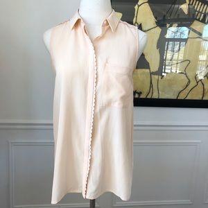 Club Monaco 100% Silk Sleeveless Blouse XS